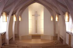 photo of Northminster Presbyterian Church Renovation Sacred Architecture, Church Architecture, Religious Architecture, Architecture Design, Church Interior Design, Church Stage Design, Altar Design, Facade Lighting, Modern Church