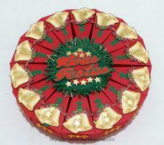 Lange Barreto - Scrap: Caixa fatia de bolo Natalina