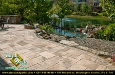 pond patio | Long Island Landscaping from The Deck and Patio Company