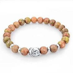 Tibetan Natural Stone Buddha Men's Bracelets [15 Colors]