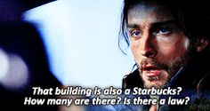 Sleepy Hollow. Ichabod Crane. I seriously cracked up with this scene!! @Heather Creswell Creswell Creswell Creswell Morgan I know you will get a kick out of this!