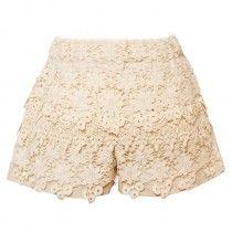 Lace layered shorts