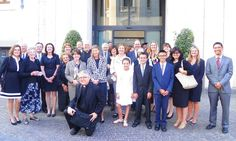 Representatives of the Santa Susanna Catholic American Community moments after celebrating Mass with Pope Francis