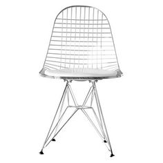 Wire Dining Chairs, Retro Dining Chairs, Plastic Dining Chairs, Leather Dining Chairs, Upholstered Dining Chairs, Wire Chair, Charles Eames, Chrome, Furniture