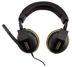 The H1500 headset takes part of the latest Corsair Gaming series, packs dual 50mm drives and is able to emulate 7.1 surround sound thanks to the Dolby Pro Logic IIx certification. The product comes with a 3-meter cable and on it we will also find a tiny remote which allows working with the volume control or for muting the microphone.
