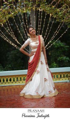 saree engagement look Kerala Engagement Dress, Engagement Dress For Bride, Engagement Saree, Wedding Engagement, Set Saree, Half Saree Lehenga, Saree Dress, Gown Dress, Party Wear Indian Dresses