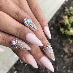 matte-pink-nails-trendy-designs-long-sti