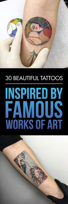30 Beautiful Tattoos Inspired by Famous Works of Art | TattooBlend