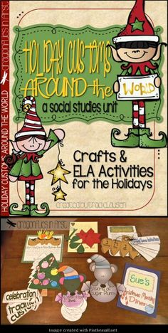 Holiday Customs Around the World FILLED with crafts, writing, and social studies WONDERFULNESS!