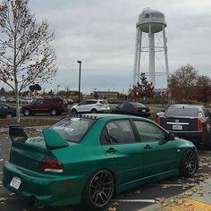 #Mitsubishi_Evo #Modified #Slammed #Stance