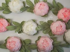 Paper flowers wedding garlandpaper flower by Mazziflowers on Etsy