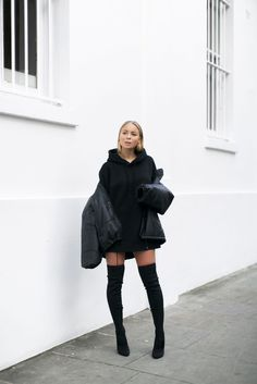 Puffer Jacket And Knee Highs