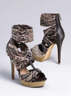 Stretch Print Fabric Wrap Sandal - Colin Stuart® - Victoria's Secret
