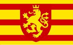 Flaga Macedonii (proponowana - zgodna z historią z tzw. Lwem Korenićów-Neorićów z 1340 r.)
