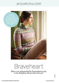 Strickanleitung Rowan Braveheart Sweater Simply Stricken 0616