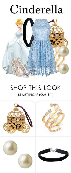 """Cinderella"" by megan-vanwinkle ❤ liked on Polyvore featuring Disney, Hueb, Carolee, Miss Selfridge, Ukulele and cinderella"