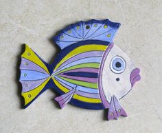Ceramic Fish Decorative wall hanging by ceramicsartdaniel on Etsy, $23.00