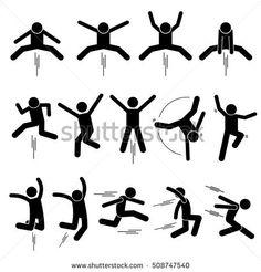 Various Jumper Human Man People Jumping Stick Figure Stickman Pictogram Icons Royalty Free Stock Image Cartoon Drawings Of People, Cartoon People, Disney Drawings, Drawings For Boyfriend, Stick Figure Drawing, Person Drawing, Image Nature, Man Icon, Stick Man