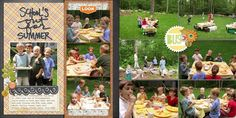 Ideas for Scrapbooking Picnics & Outdoor Meals | Debbie Hodge| Get It Scrapped
