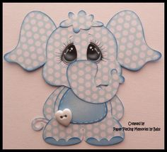 Blue Elephant Premade Paper Piecing Die Cut for Scrapbook Page by Babs | Crafts, Scrapbooking & Paper Crafts, Pre-Made Pages & Pieces | eBay!
