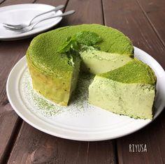 Sweets Recipes, Brownie Recipes, Green Tea Dessert, Green Tea Recipes, Different Cakes, Sweets Cake, Asian Desserts, Happy Foods, Food Menu