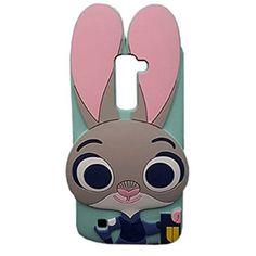 LG K10 Case, LG Premier LTE L62VL L61AL Case, MODEFAN 3D Cartoon Lovely Rabbit Soft Silicon Rubber Case Cover For LG K10/LG Premier LTE L62VL L61AL (2016)