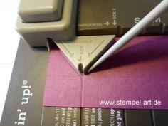 …möchte ich Dir heute zeigen! …die ist natürlich ganz einfach ;-) ! Mit dem Stanz- und Falzbrett für Geschenktüten von Stampin up! ist diese Box fix gezaubert…und hat – wie …