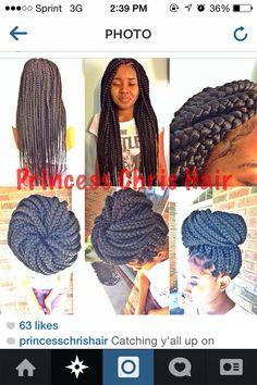 These jumbo braids tho I prefer them :) Different Hairstyles, Cute Hairstyles, Braided Hairstyles, Beautiful Hairstyles, Hairstyle Ideas, Natural Hair Tips, Natural Hair Styles, Box Braids Styling, Beautiful Braids