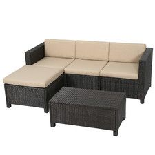 Dinah 5 Piece Seating Group with Cushion