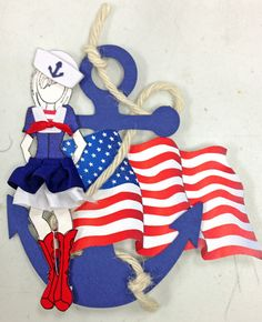 Seanna the Sailor.  Created with Prima doll stamps for Treasured Memories, Lafayette, La