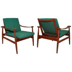 Pair of Spade Easy Chairs by Finn Juhl for France and Sons | From a unique collection of antique and modern lounge chairs at https://www.1stdibs.com/furniture/seating/lounge-chairs/