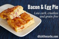 Try this simple crustless bacon and egg pie. By the time the oven is warm, you will have thrown it all together. Gluten free, wheat free, full of nutrition.