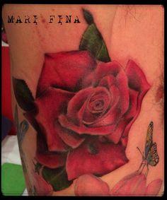 Today! Tattoo artist: Mari Fina   http://www.subliminaltattoo.it  #realisticrose #subliminaltattoofamily #marifina #rosa #tatuaggio #tattoo #marifina #tattooartist