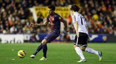 Dani Alves, FC Barcelona.   Valencia 1-1 FC Barcelona. 2013-02-03.