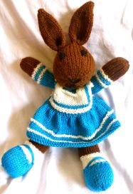 Les Petits knitted toys: Bleuette