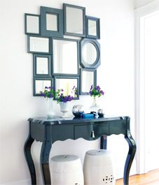 Mirror, mirror on the wall... ideas for decorating using old mirrors using one color scheme