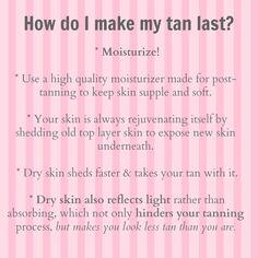 Make that tan LAST!