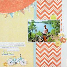 Summer Adventures #Scrapbook Layout Project Idea from Creative Memories  http://www.creativememories.com