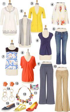 Cardigan Empire: Travel Packing Wardrobe Cluster
