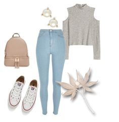 """""""Sin título #30"""" by michellevc19 ❤ liked on Polyvore featuring Converse, River Island, MICHAEL Michael Kors and Kate Spade"""