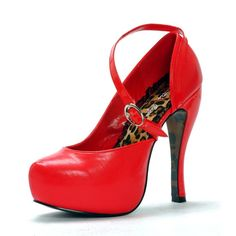 Red Dolce Platform Pumps by Bettie Page Shoes