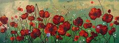 Leanne Christie Oil Painting #poppies #glitter #originaloilpainting
