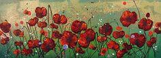 Leanne Christie Oil Painting #poppies #glitter #originaloilpainting