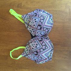 Victoria's Secret Push-up Bra never worn! super cute pattern. Victoria's Secret Intimates & Sleepwear Bras