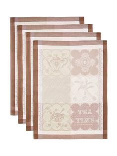 Cup of Tea Kitchen Towels Taupe (Own)