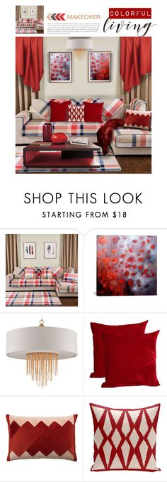 """""""Vibrant Makeover"""" by mysfytdesigns ❤ liked on Polyvore featuring interior, interiors, interior design, home, home decor, interior decorating and iCanvas"""