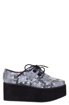 pretty nice 51f30 8881b Midnight Widow Creeper Flat Shoes, Shoes Heels Boots, Sock Shoes, Heeled  Boots,
