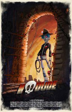 HooDude Movie Poster by Byron Leboe