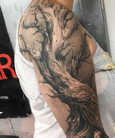 Dead Tree Tattoo - InkStyleMag - Made by Cigla Tattoo Artists in Cologne, Germa. - Dead Tree Tattoo – InkStyleMag – Made by Cigla Tattoo Artists in Cologne, Germany Region – - Dead Tree Tattoo, Tree Roots Tattoo, Tree Sleeve Tattoo, Back Tattoo, Sleeve Tattoos, Tattoo Life, Flower Tattoos, Small Tattoos, Tree Tattoos