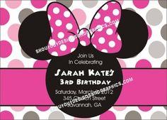 Minnie Mouse birthday invitation by ShoutOutDesignsandGraphics.com